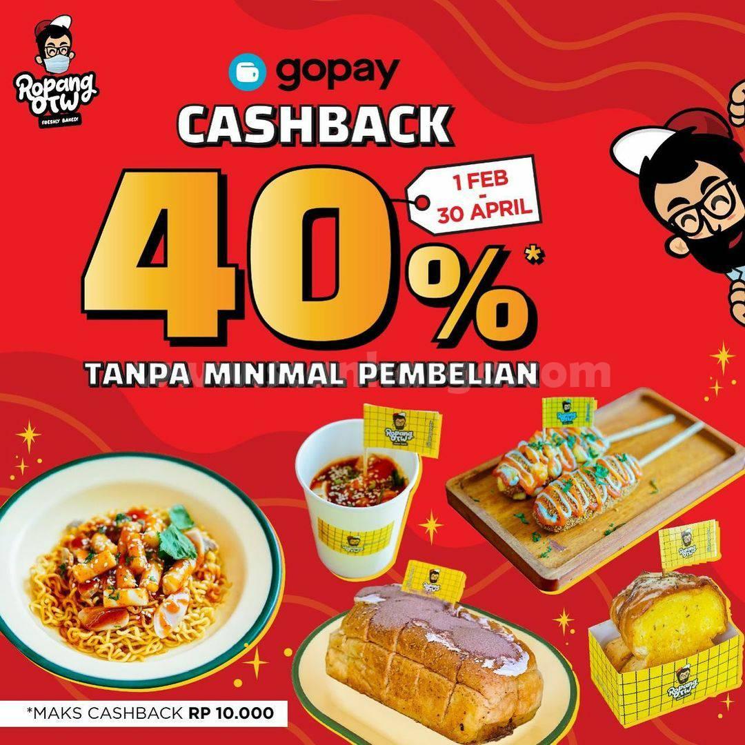 Ropang OTW Promo GOPAY! Spesial CASHBACK 40