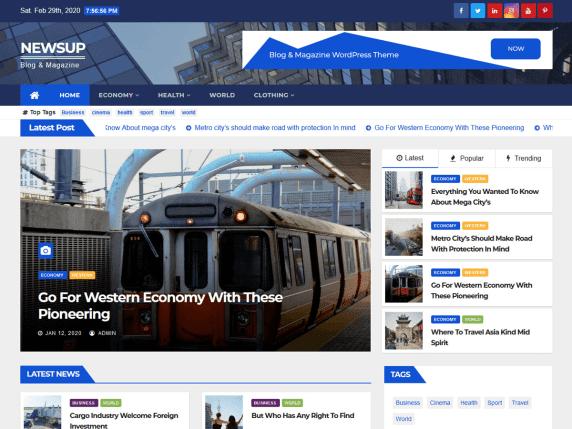 Newsup Template Blog Wordpress