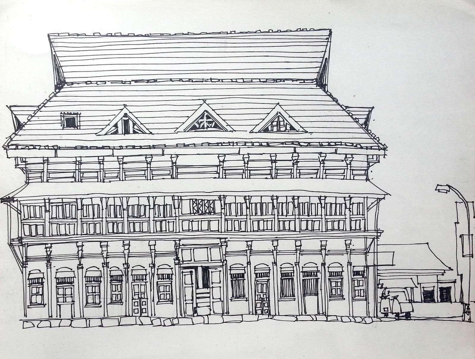 Sketch Walk along Solapur Bazaar Road | Urban Sketchers