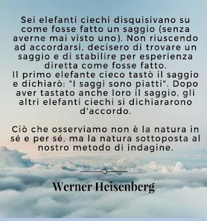 Ciò che osserviamo non è la natura in sé e per sé, ma la natura sottoposta al nostro metodo di indagine.