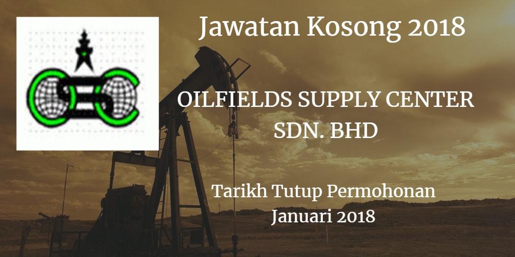 Jawatan Kosong OILFIELDS SUPPLY CENTER SDN. BHD Januari 2018