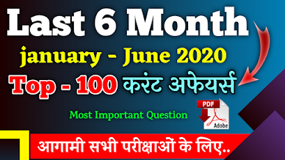 January to June 2020 Current Affairs in Bilingual