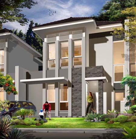 gambar desain rumah 2 lantai modern minimalis 2014 | rumah