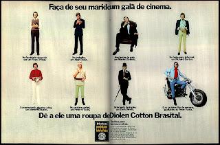 propaganda Diolen Cotton Brasital - 1973. Moda anos 70; propaganda anos 70; história da década de 70; reclames anos 70; brazil in the 70s; Oswaldo Hernandez