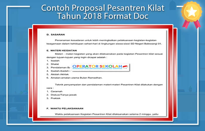Contoh Proposal Pesantren Kilat Tahun 2018 Format Doc