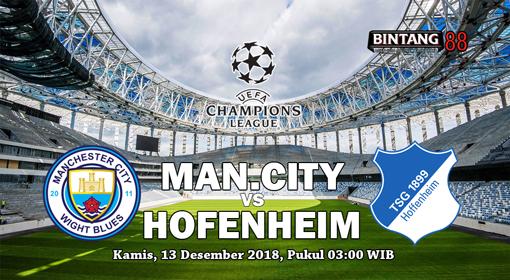 Prediksi Manchester City Vs Hoffenheim 13 Desember 2018