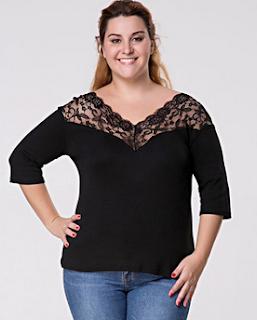 http://www.fashionmia.com/Products/v-neck-plain-lace-patchwork-plus-size-blouse-163662.html