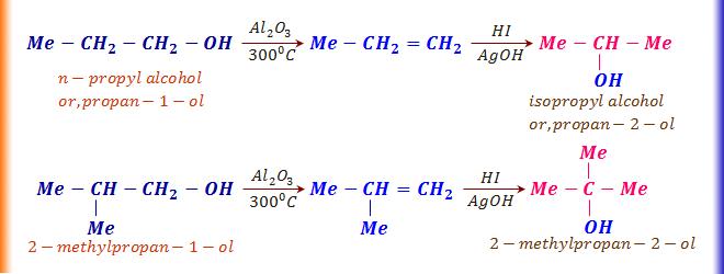 Alcohol dehydration reaction by alumina
