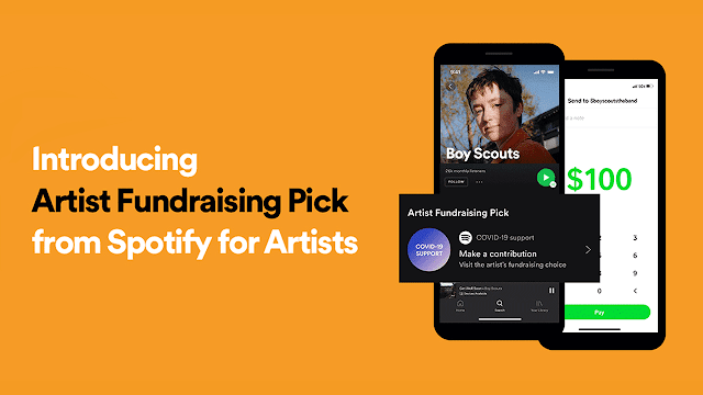 Spotify Launches Artist's Fundraising Pick