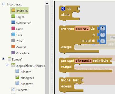 Strutture di controllo (Mit App Inventor 2)
