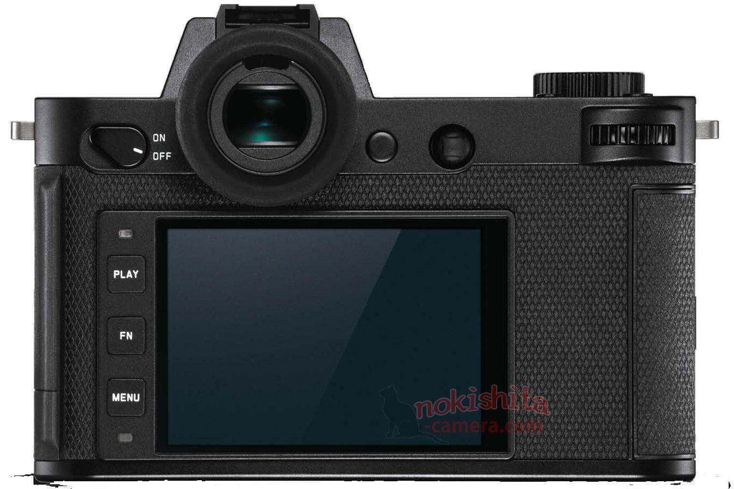 Leica SL2, вид сзади