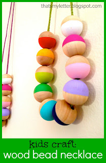 kids craft wood bead necklace