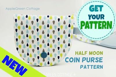 half moon coin purse pattern