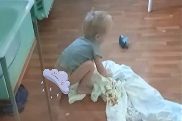 В ожидании отправки в детдом мальчик находится в больнице, где его кормят один раз в день, а наполненные подгузники никто не меняет