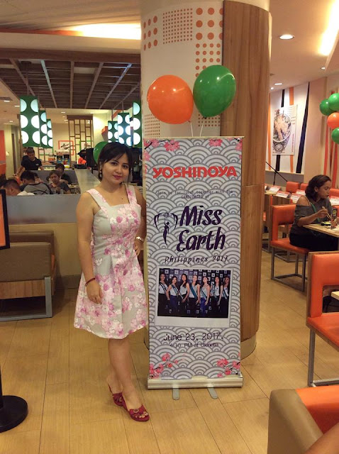 Ms. Earth Philippines 2017 Beauties Amaze Yoshinoya Glorietta Customers!