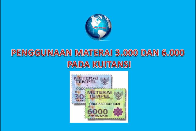 Penggunaan Materai 3000 dan 6000