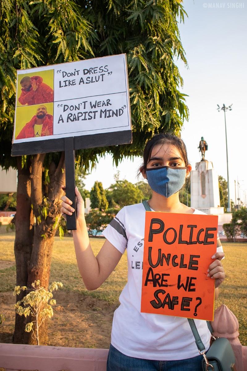 Youth Protest at Gandhi Circle, Jaipur.