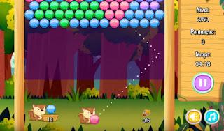 Jogue Bubble Shooter Squirrel grátis online