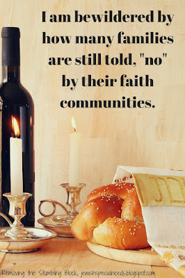 Faith communities, that ALL may worship; Removing the Stumbling Block