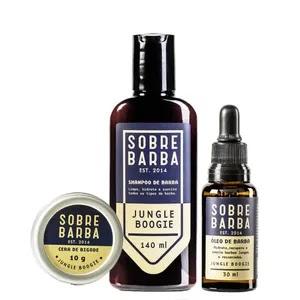 Kit Shampoo de Barba + Óleo e Cera de Bigode Jungle Boogie Sobrebarba