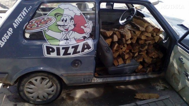 Bild des Tages - Pizza Service in Berovo