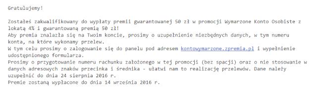 mail od agory lokata mobilna 4% raiffeisen polbank bonus 50 zł