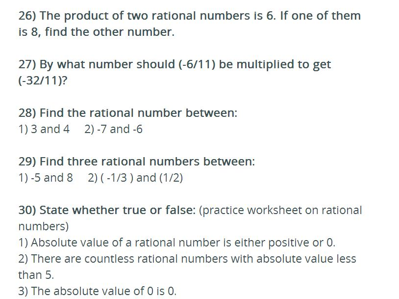 DCMC MATH Class 8: 4th practice worksheet on rational numbers