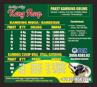 harga kambing guling ciwidey | April 2019
