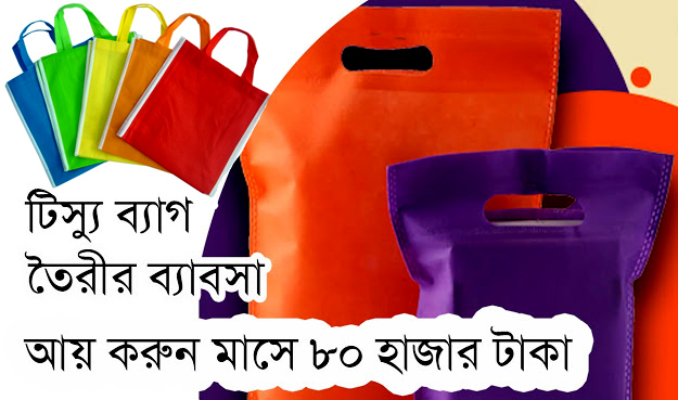 Tissue bag making machine