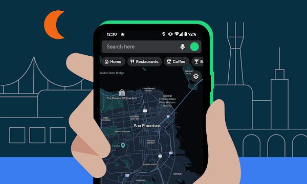 Dark Mode do Google Maps anunciado oficialmente em Android