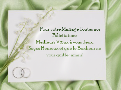 texte mariage texte envoyer ou crire sur carte de voeux pour f liciter un mariage. Black Bedroom Furniture Sets. Home Design Ideas