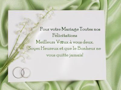 texte felicitation mariage gratuit