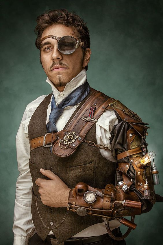 steampunk fashion guide monocled man