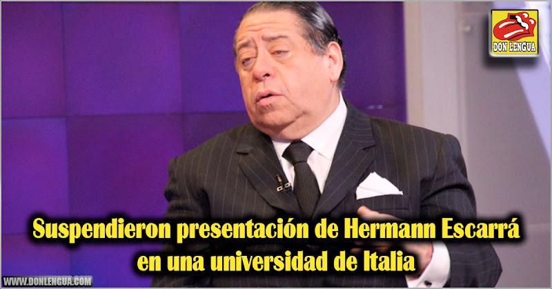 Suspendieron presentación de Hermann Escarrá en una universidad de Italia