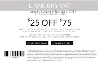Lane Bryant coupons february