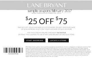 Lane Bryant coupons february