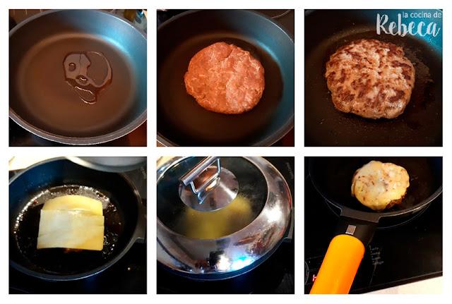 Receta de hamburguesa de capricho ibérico: cocinado de las hamburguesas