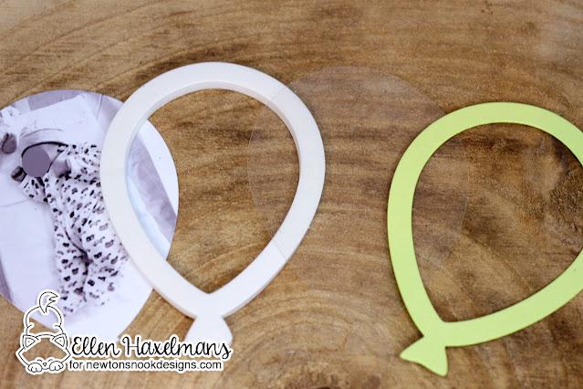 Shaker Balloon for Baby Card by Ellen Haxelmans | Balloon Shaker Die Set by Newton's Nook Designs #newtonsnook #handmade