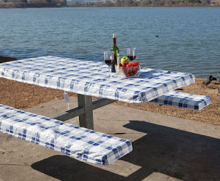 Patio Table Covers Material Vinyl and Polyester