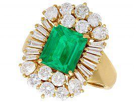 Vintage 90's emerald ring