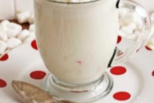 WHITE CHRISTMAS COCOA #christmas #drink