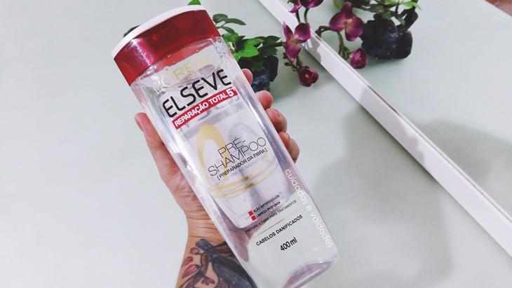 Reconstrução no cabelo Pré Shampoo Elseve