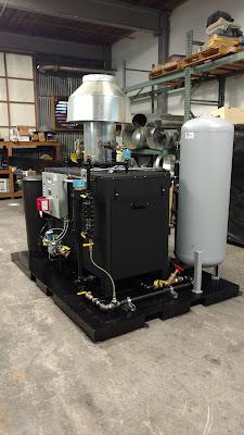 Parker Boiler system after skidding