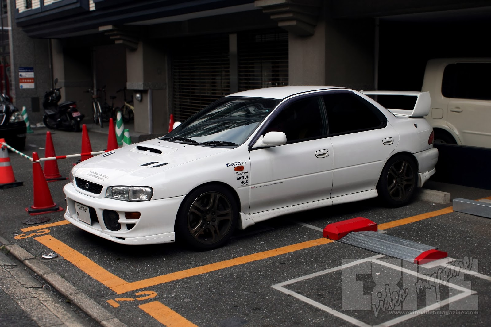 Car With Jdm Stickers Wallpaper White Gc8 In Hakata Exite Video Magazine