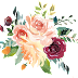 Water Colour Flower PNG 6