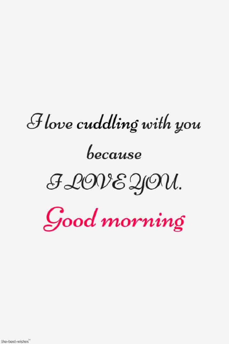 good morning romantic i love you quote