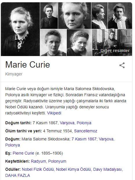 İlk Nobel Alan Kadın: Marie Curie