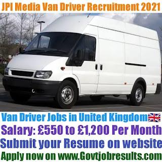 JPI Media Van Driver Recruitment 2021-22