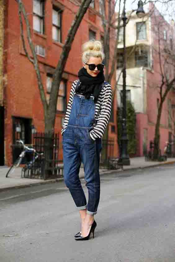 Como usar macacão jeans no inverno