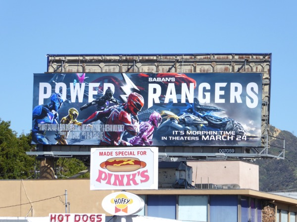 Power Rangers movie billboard